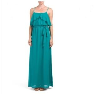SALE NWT Nouvelle Amsale Jade Ruffle Evening Gown
